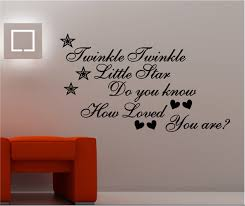 twinkle twinkle wall art vinyl kids bedroom quote do you know how childrens bedroom wall art sticker vinyl decal