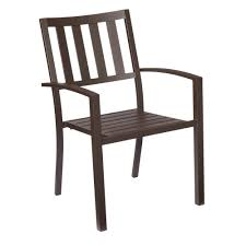 Wood And Metal Dining Chairs Hampton Bay Mix And Match Dark Bronze Stackable Metal Outdoor