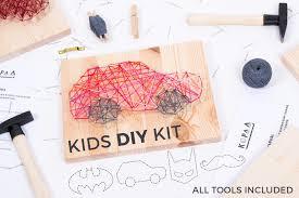 peg doll kit family of 4 wooden dolls kids craft kit diy