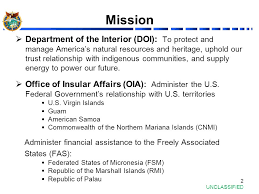 Department Of The Interior Doi Office Of Insular Affairs And Perspectives On The Pacific 1