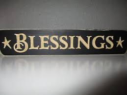 blessings home decor primitive engraved wood message block sign blessings country
