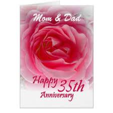 35 wedding anniversary 35th wedding anniversary cards invitations zazzle co uk
