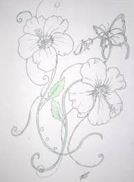 fabulous hibiscus flower n butterfly design for