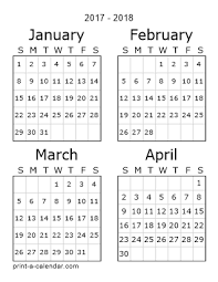 printable 2017 calendar two months per page download 2017 printable calendars