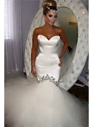 fishtail wedding dress 2017 sweetheart fishtail wedding dresses sparkly crystals