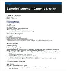 sample resume graphic design u2013 topshoppingnetwork com