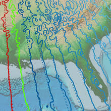 declination map tracking changes in earth s magnetic poles national centers for