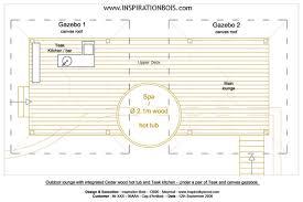 plan cuisine exterieure d ete agencement extérieur sur mesure en teck ipé et autres bois pour