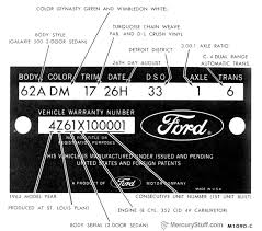 1964 ford identification