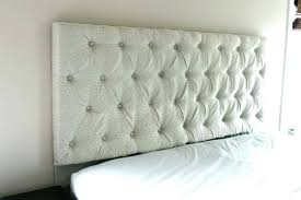 How To Make A Tufted Headboard Easy Diy Tufted Headboard Faux Headboard Size Of Tufted