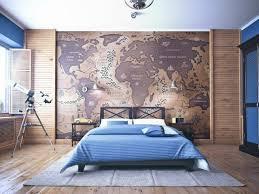 papier peint deco chambre chambre enfant déco chambre ado couleurs murs bleu papier peint
