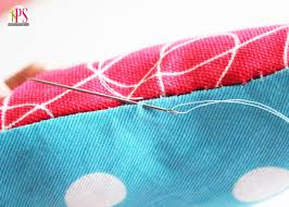 Blind Stitch Hem By Hand How To Sew A Pillow Closed By Hand With A Blind Ladder Stitch