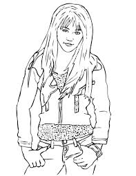 hannah montana colouring pictures hannah montana colouring