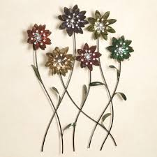 silver metal wall art flowers takuice com