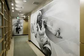 Office Wall Design Alexis Marcou Designs Wall Graphics For Nike 4d Offices In Oregon
