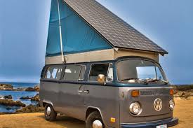 volkswagen classic bus vintage volkswagen bus converted into solar electric camper curbed