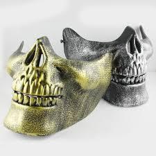 half skull mask halloween online get cheap skull mask military half aliexpress com