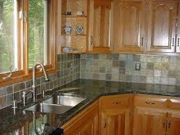 Backsplash Maple Cabinets Height Of Hood Above Stove Top Kitchen Tile Backsplash Ideas With