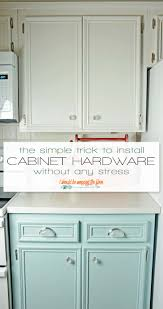 how to install knobs on kitchen cabinets easy cabinet hardware installation trick i should be