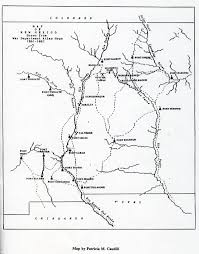 New Mexico State Map by New Mexico Map 1861 1867