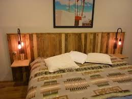 Pallet Wood Headboard Recycled Pallet Headboard With Lights Recycled Things