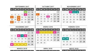 Calendario Diciembre 2018 Cones Infantil Calendario Curso 2017 2018