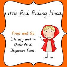 red riding hood literacy unit jenny quld tpt