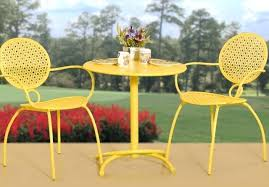 Small Bistro Chair Cushions Yellow Patio Furniture Charming Bistro Set Outdoor Patios And