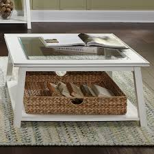 Glass Coffee Tables by Shop Liberty Furniture Summerhill Poplar Glass Coffee Table At