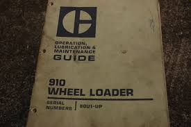cat caterpillar 910 wheel loader operation maintenance manual