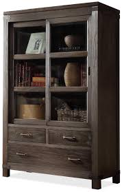 sliding door bookcase by riverside furniture wolf and gardiner