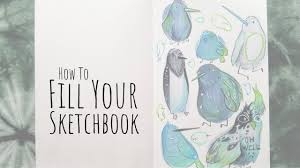 how to fill your sketchbook sketchbook ideas 03 birds youtube