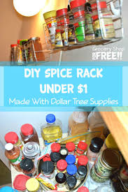 diy spice rack under 1 made with supplies from dollar tree