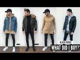 black friday winter jackets mens fashion haul black friday lookbook winter 2016 youtube