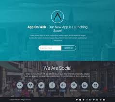 apponweb app landing page responsive template by spheretheme