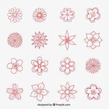 Flowers Designs For Drawing Coleção Flores Desenhadas Mão Cartoon Flowers Flower Images And