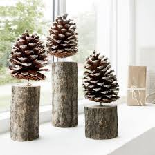 Nordic Inspired Pinecone Trees With A Light Dusting Of Sparkly