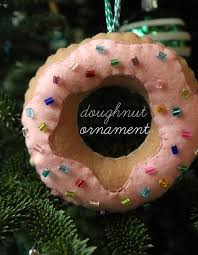 diy felt doughnut ornaments unusually lovely