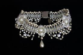 choker necklace wedding vintage images Bridal necklace victorian pearls choker statement vintage wedding jpeg