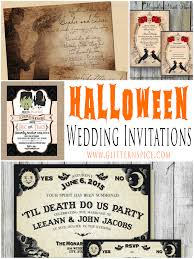 spooktacular halloween wedding invitations glitter u0027n spice