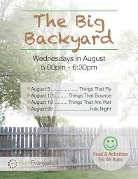 big backyard outreach event rand seay