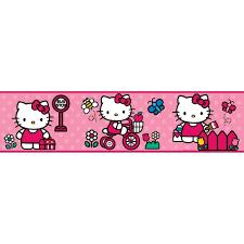 world of hello kitty 15 wall sticker border pink polka dot room world of hello kitty 15 wall sticker border pink polka dot room decor wallpaper ebay