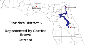 Florida Congressional District Map by Watch Corrine Brown U0027s District 5 Change Before Your Eyes Orlando