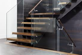 Glass Banisters For Stairs Mrail Modern Stairs Frameless Glass Railings