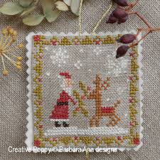 ornament trio cross stitch pattern by barbara