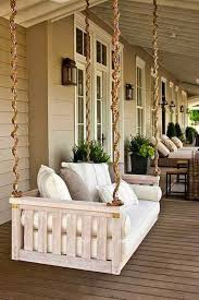 Rope Floor L Exciting Front Porch Design With Big Wooden Swing Sofa And Chain