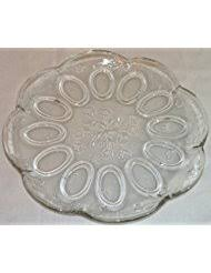 glass egg plate glass deviled egg plates serving dishes trays