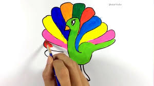 paint color how to color peacock coloring pages peacock color