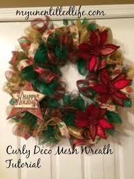 mesh wreaths to make a curly deco mesh wreath tutorial