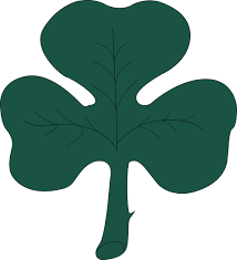 clipart of a st paddy u0027s day 4 leaf clover shamrock